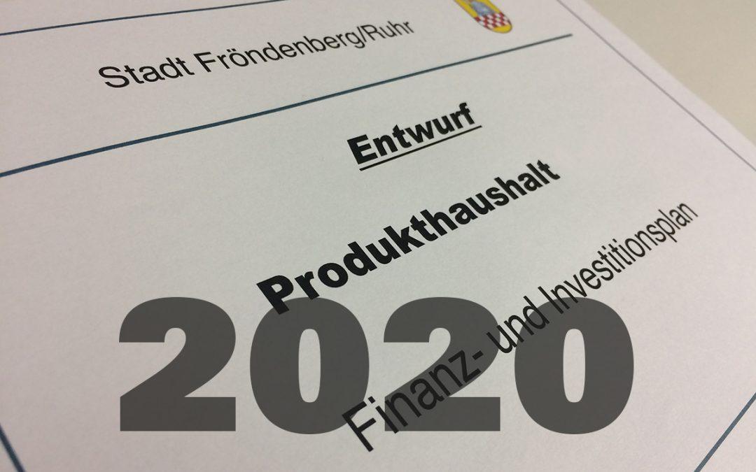 Anträge zum Haushalt 2020